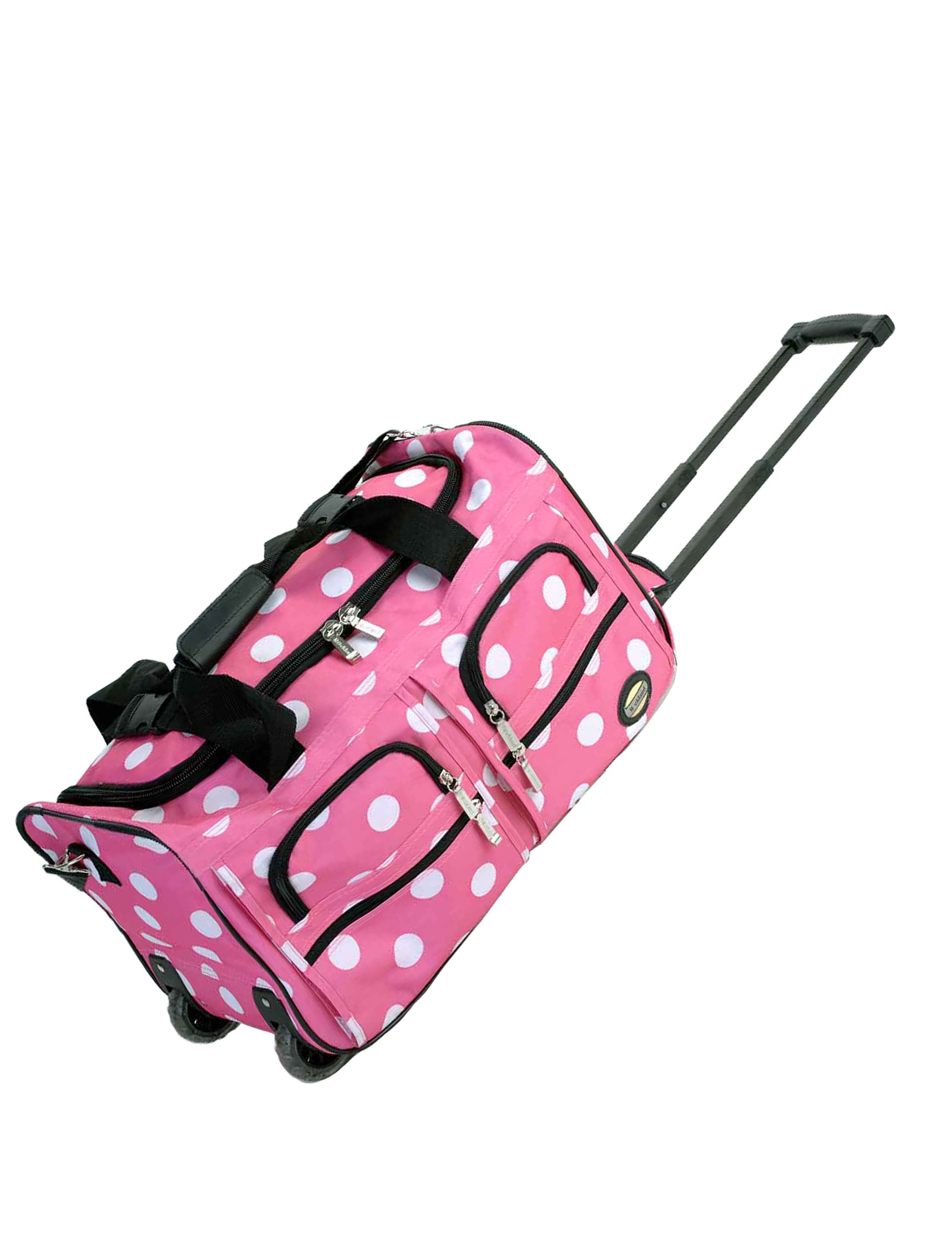 Rockland Pink / White Duffle Bags Upright Spinners