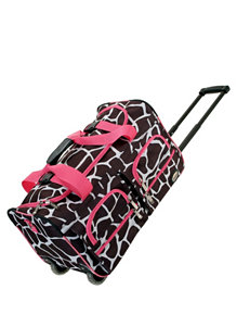 Rockland Pink / Brown Duffle Bags