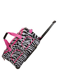 Rockland Zebra / Pink Duffle Bags