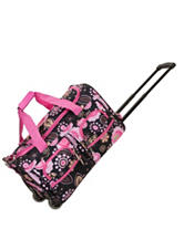 Rockland 22 Inch Floral Print Rolling Duffle Bag