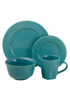 10 Strawberry Street Teal Dinnerware Sets Dinnerware