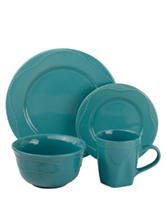 10 Strawberry Street 16-pc. Teal Beaded Round Dinner Set