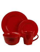 10 Strawberry Street 16-pc. Red Beaded Round Dinner Set