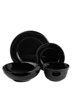 10 Strawberry Street Black Dinnerware Sets Dinnerware