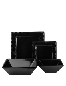 10 Strawberry Street Black Dinnerware Sets Dinnerware