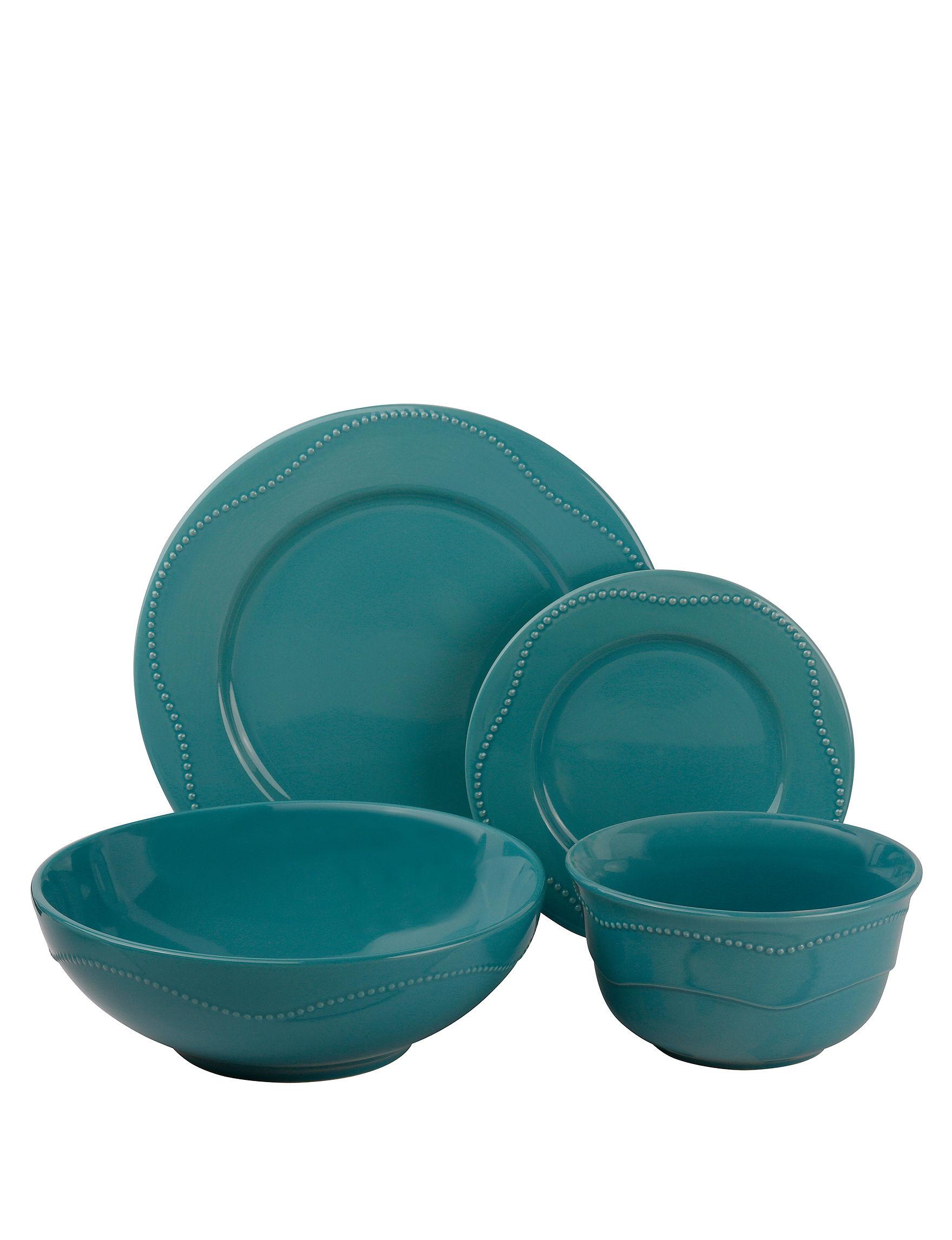 10 Strawberry Street Teal Dinnerware Sets Dinnerware