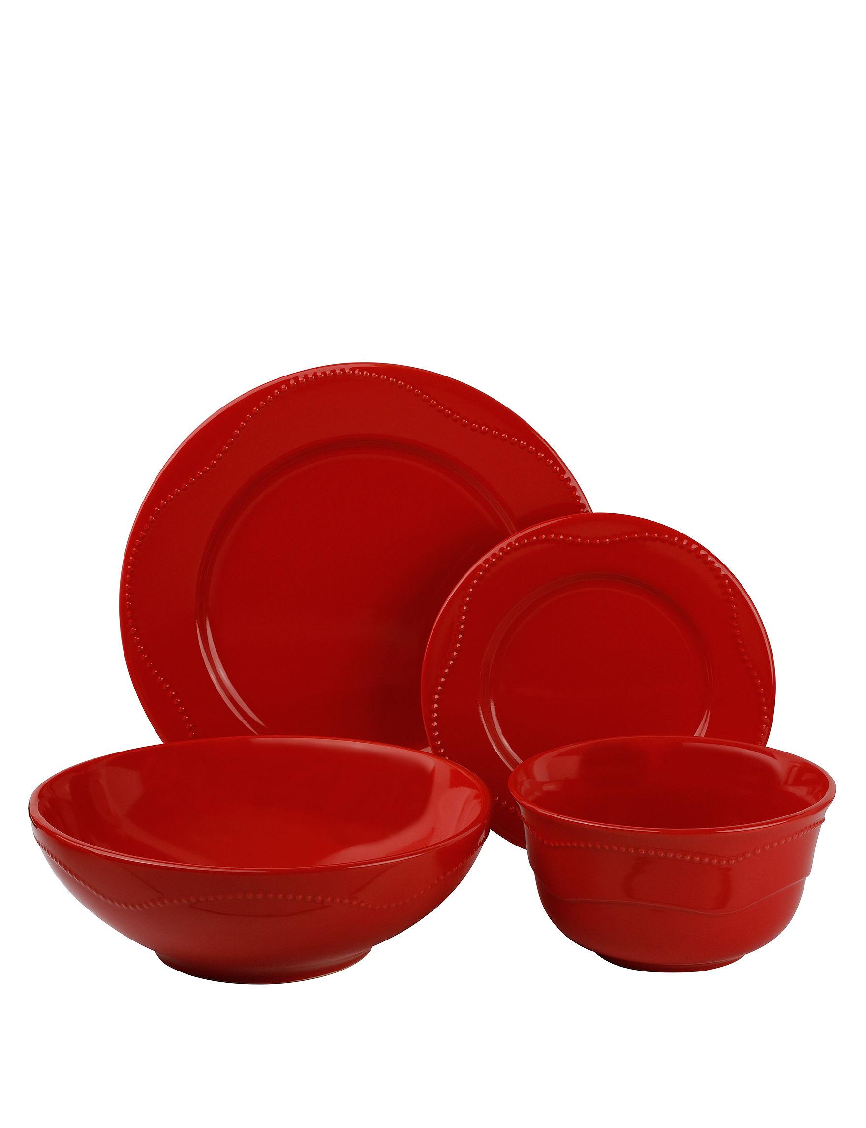 10 Strawberry Street Red Dinnerware Sets Dinnerware