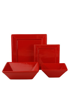 10 Strawberry Street Red Dinnerware Sets Dinnerware