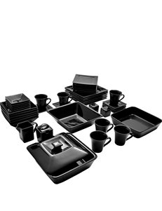 10 Strawberry Street 45-pc. Nova Black Dinnerware Set