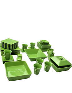 10 Strawberry Street 45-pc. Nova Green Dinnerware Set