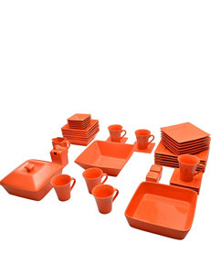 10 Strawberry Street 45-pc. Nova Orange Dinnerware Set