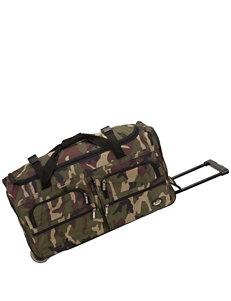 Rockland Green Camo Duffle Bags