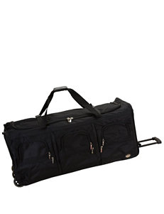 Rockland Black Duffle Bags Upright Spinners