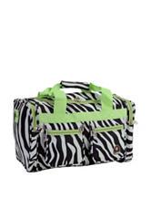 Rockland 19 Inch Zebra Print Tote Bag