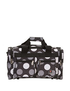Rockland Black / White Travel Totes