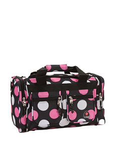 Rockland Black / Pink Travel Totes