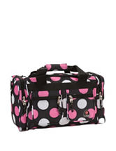 Rockland 19 Inch Pink Dot Tote Bag