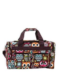Rockland Brown / Multi Travel Totes