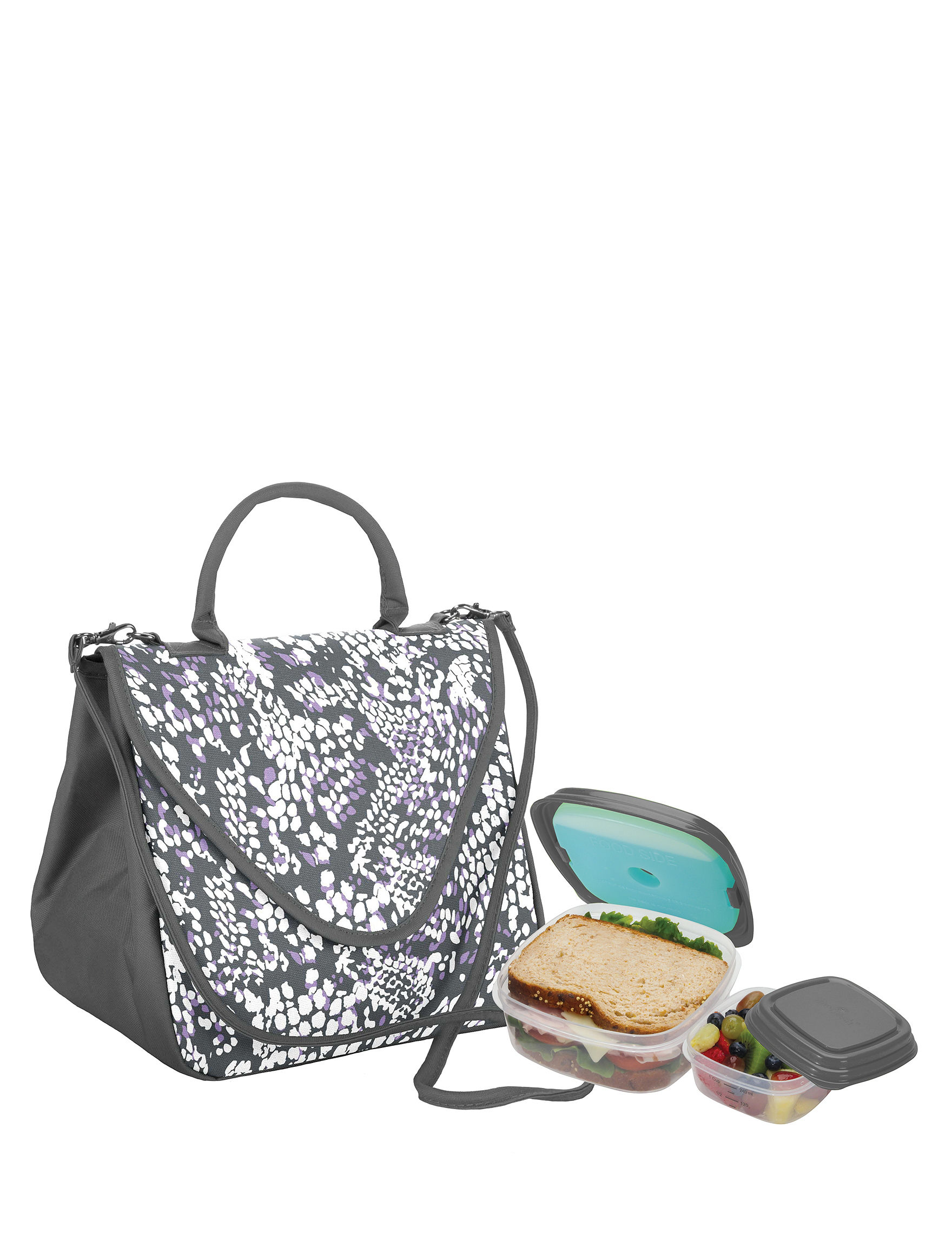 Fit & Fresh Purple Lunch Boxes & Bags Kitchen Storage & Organization
