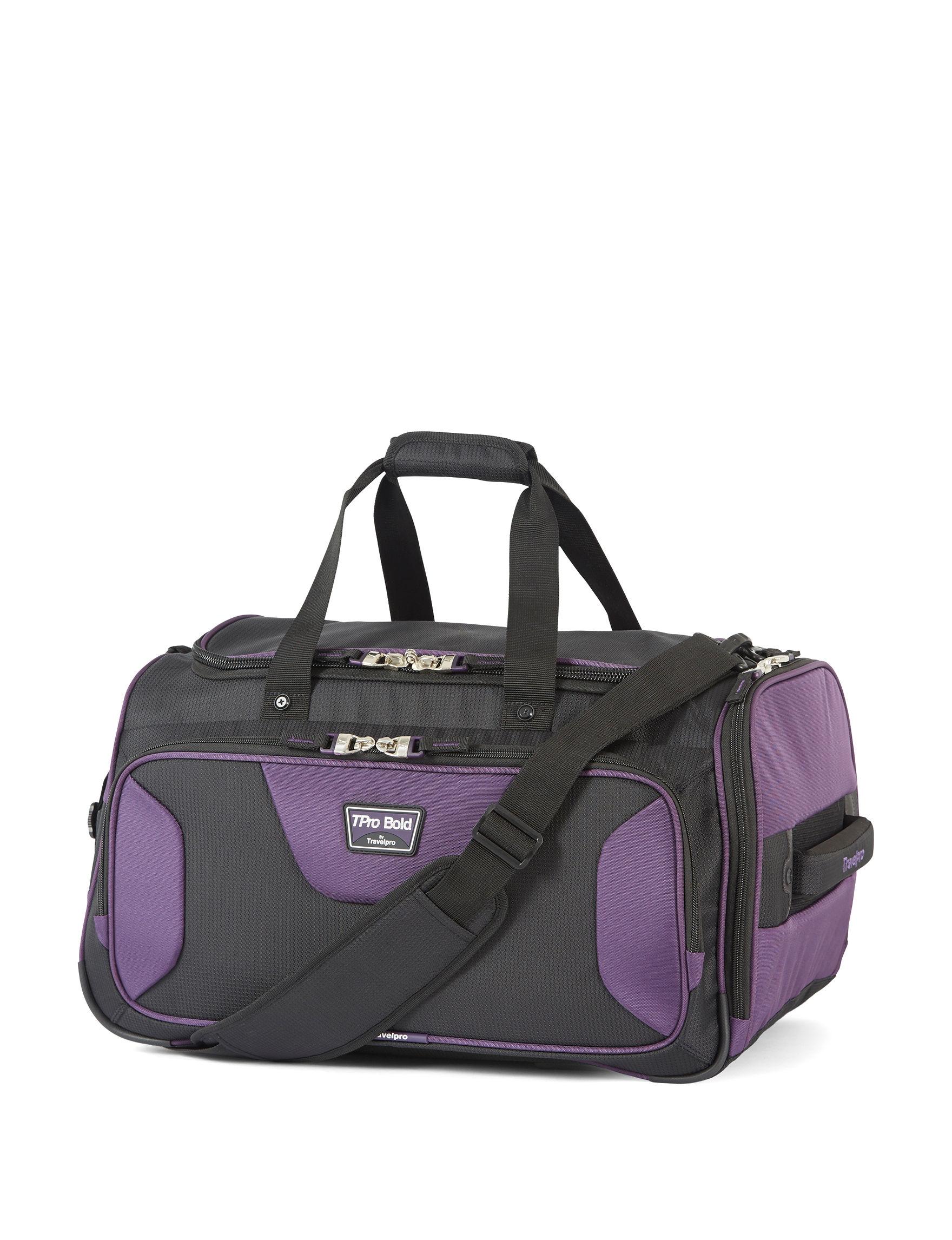 Travelpro Black/ Purple Duffle Bags