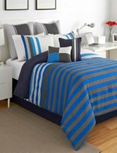 Izod Regatta Stripe Stripe Comforter Set