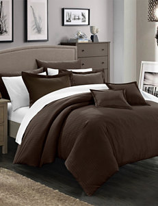 Chic Home 11-pc. Keynes Down Alternative Jacquard Striped Comforter Set