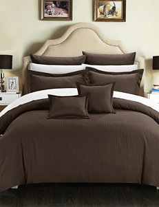 Chic Home 7-pc. Keynes Down Alternative Jacquard Striped Comforter Set