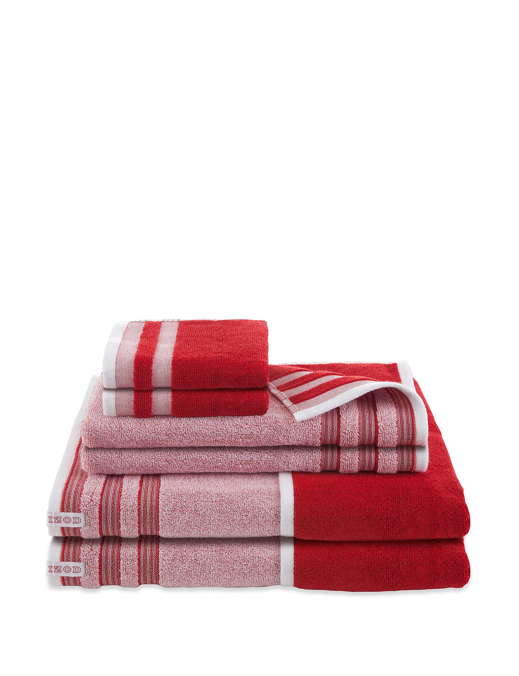 Izod Pompei Red Towel Sets