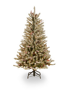 National Tree Company 4.5-ft. Dunhill Fir Slim Tree with Clear Lights