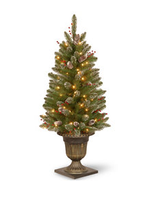 National Tree Company 4 ft. Glittery Mountain Spruce Entrance Tree with Clear Lights