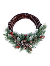 National Tree Company 16-Inch Frosted Berry Grapevine Wreath