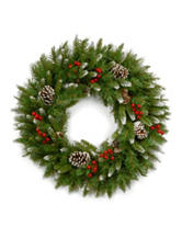 National Tree Company 24-Inch Frosted Berry Wreath