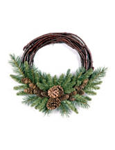 National Tree Company 16-Inch Pine Cone Grapevine Wreath
