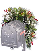 National Tree 36 Inch Wintry Pine Mailbox Swag