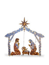 National Tree Company 72 Inch Nativity Scene with Clear Lights