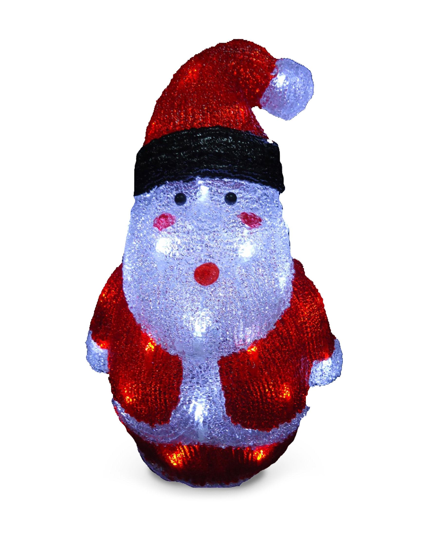 Outdoor Decor Company National Tree Company 16 Inch Santa Decoration With Led Lights