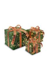 National Tree Company Pre-Lit Green Sisal Gift Box Assortment
