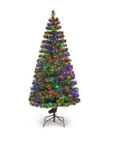 National Tree Company 72-Inch Fiber Optic Evergreen Tree with LED Lights