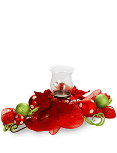 National Tree Company 30-Inch Decorative Collection Red Ribbon Single Candle Holder