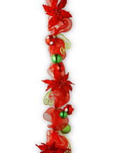 National Tree Company 6-ft. Decorative Collection Red Ribbon Garland