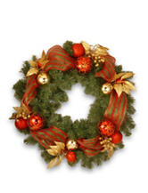National Tree Company 30-Inch Decorative Collection Red/Green Ribbon Wreath