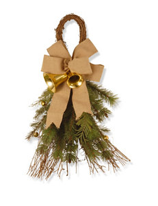 National Tree Company 24-Inch Decorative Collection Burlap Bow Wall Decor