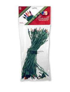 National Tree Company 50 Multicolor Bulb Light String Set