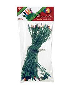 National Tree Company Ready Lit 50 Multicolor Bulb Light String Set