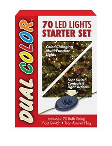 National Tree Company 70 Bulb Dual Color LED Light String Starter Set