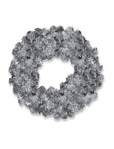 National Tree Company Silver Wreaths & Garland Holiday Decor
