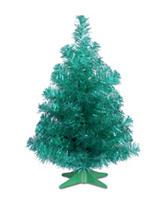 National Tree Company 2-ft. Teal Tinsel Tree