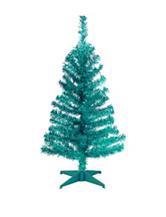 National Tree Company 3-ft. Teal Tinsel Tree