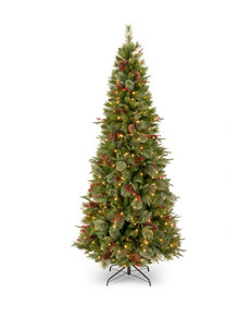 National Tree Company 7.5-ft. Colonial Slim Tree with Clear Lights