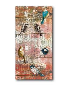 Courtside Market Birds On A Wirer Canvas Wall Art